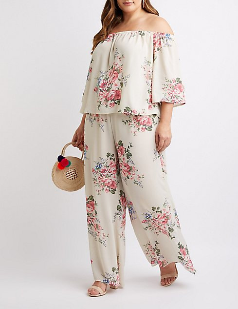 Plus Size Floral Palazzo Pants | Charlotte Russe