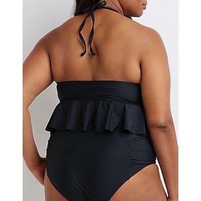 Plus Size Ruffle Bikini Top