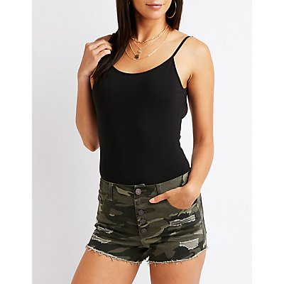 Refuge Camo Hi Rise Cheeky Shorts