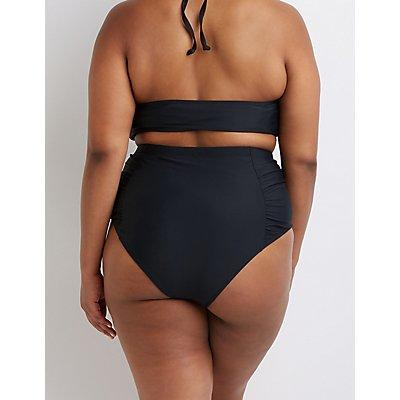 Plus Size High Waist Bikini Bottoms