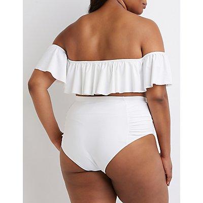 Plus Size Off The Shoulder Bikini Top