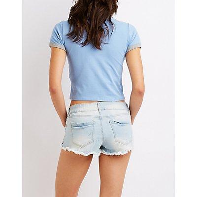 Refuge Destroyed Super Shortie Shorts