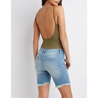 Scoop Neck Open Back Bodysuit