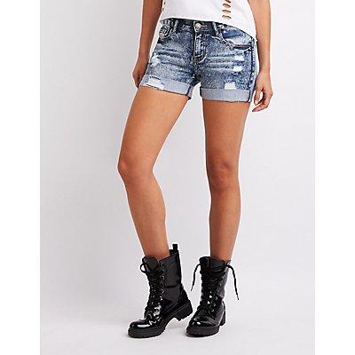 Machine Jeans Destroyed Bermuda Shorts
