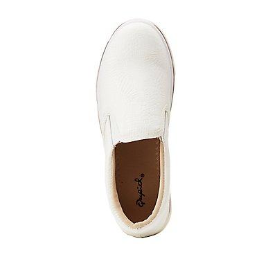 Qupid Faux Snakeprint Slip-On Sneakers