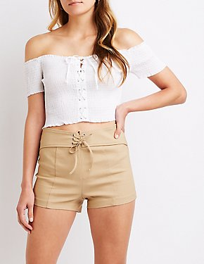 Lace Up Shorts