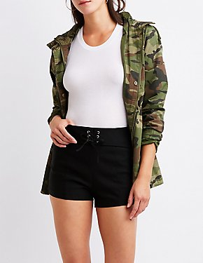 Lace Up Cheeky Shorts