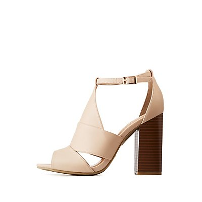 Bamboo Cut Out Block Sandals