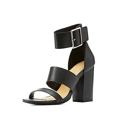 Caged Ankle Strap Sandals