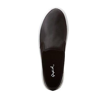 Qupid Satin Slip-On Sneakers