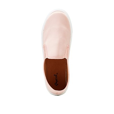 Satin Slip-On Sneakers