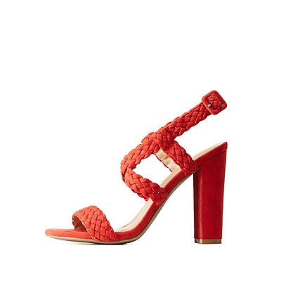 Braided Crisscross Heel Sandals by Charlotte Russe
