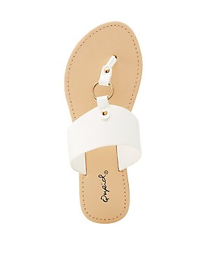 Qupid O-Ring Slide Sandals
