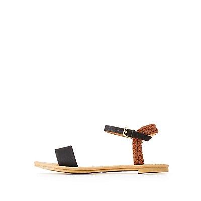Qupid Braided Flat Sandals