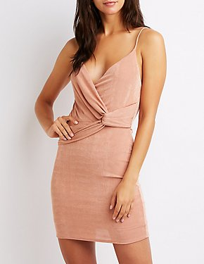 Knotted Wrap Bodycon Dress