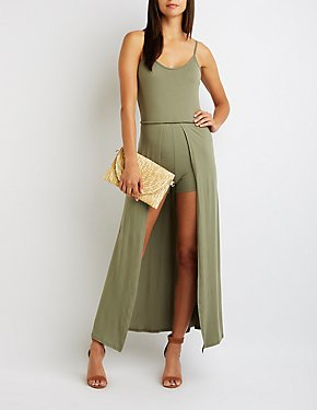 Scoop Neck Maxi Romper