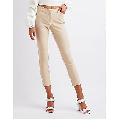 Slim Leg Cropped Trousers
