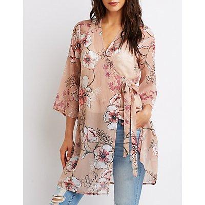 Floral Wrap Kimono