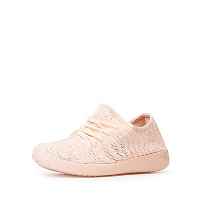 Lace Up Knit Sneakers