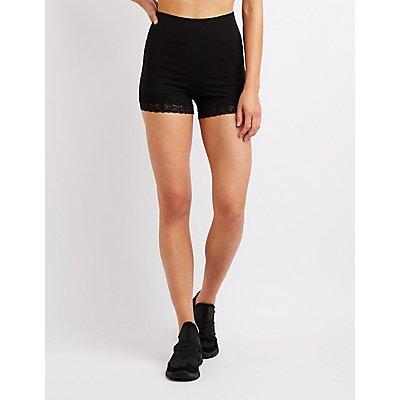 Lace Trim Bike Shorts