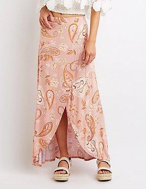 Paisley Maxi Wrap Skirt