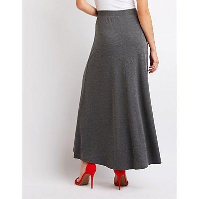 Ruffle Wrap Maxi Skirt