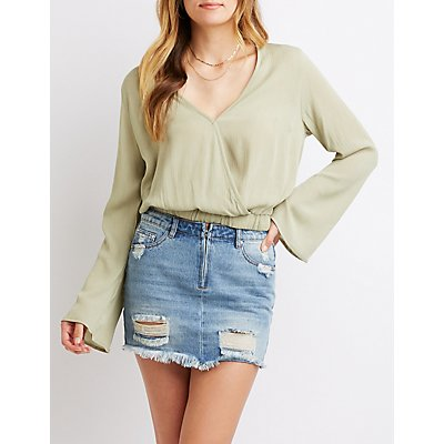 Bell Sleeve Wrapped Top