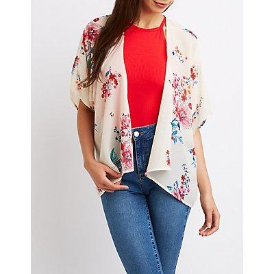 Floral Open-Front Kimono