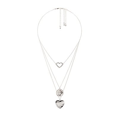 Heart & Coin Layering Necklaces