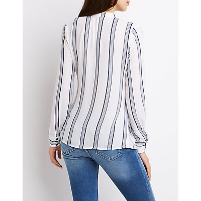 Striped Pocket Front Shirt