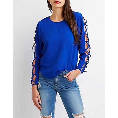 Caged Sleeved Top