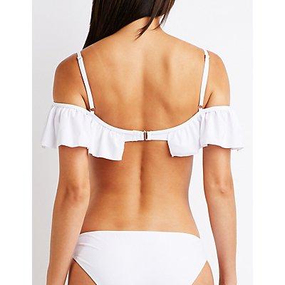 Ruffle Trim Bikini Top