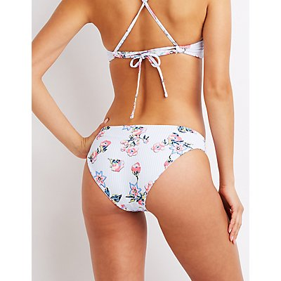 Reversible Striped & Gingham Bikini Bottom