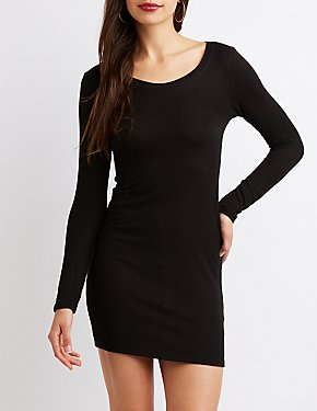 Hacci Crew Neck Bodycon Dress