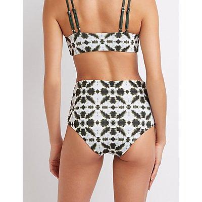 Tie Dye Lattice Bikini Bottoms