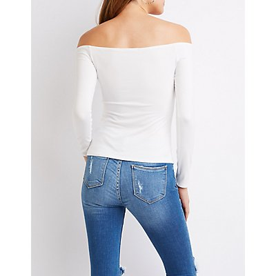 Off-The-Shoulder Skimmer Top