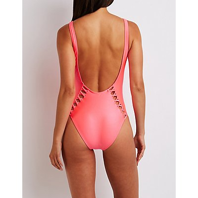 Caged Open Back Swimsuit