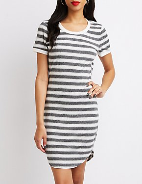 Striped Ringer Bodycon Dress