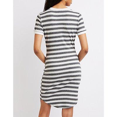Striped Ringer Bodycon Dress