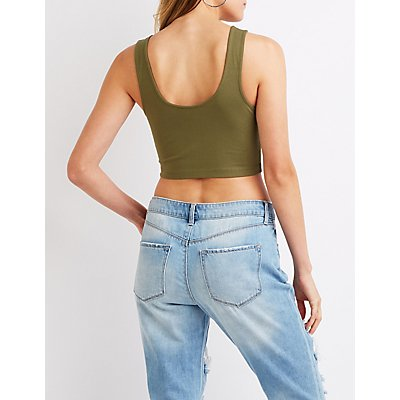 Zip Up Crop Top