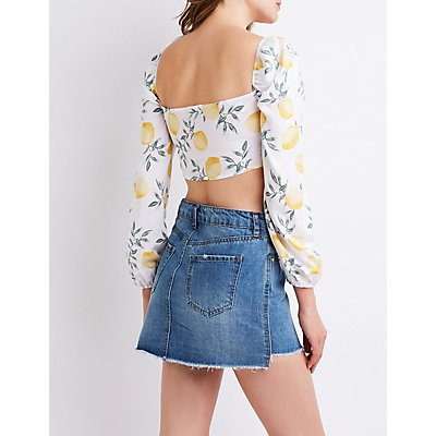 Lemon Bow Crop Top