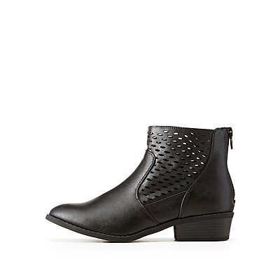 Perforated Ankle Booties