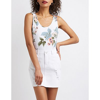 Floral Scoop Back Bodysuit