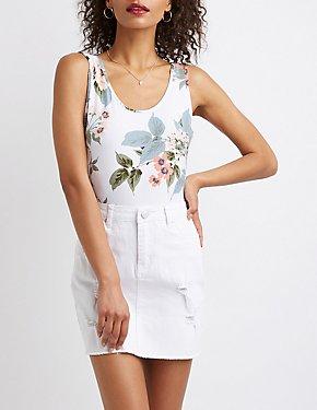 Floral Scoop Back Bodysuit