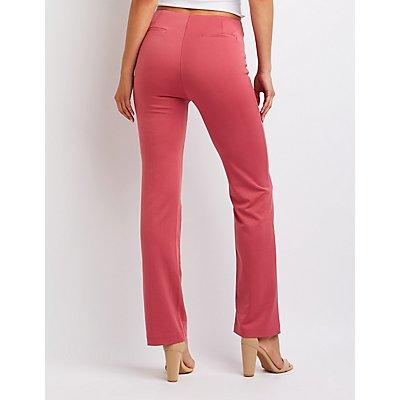 Pleated Slim Leg Trousers