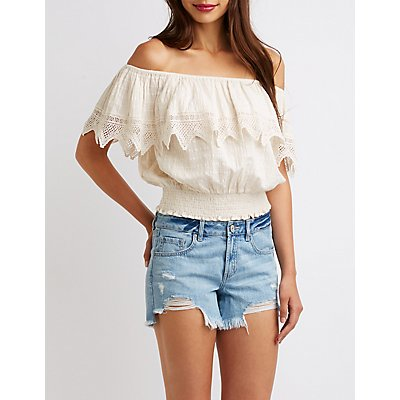 Off The Shoulder Crop Top