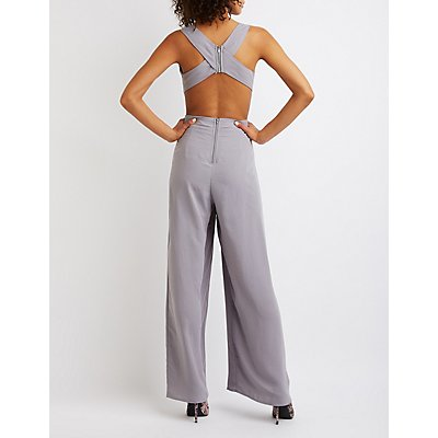 Open-Back Wide Leg Jumpsuit