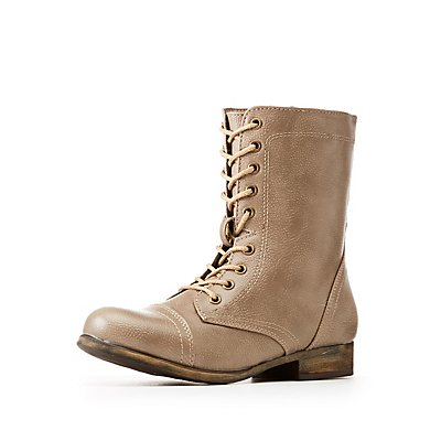 Bamboo Combat Boots