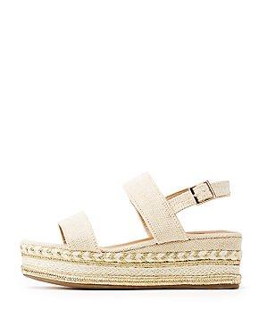 Bamboo Slingback Flatform Sandals