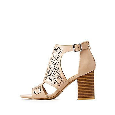 Bamboo Cut-Out Laser Cut Sandals